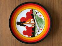 "CLARICE CLIFF Wedgwood plate ""Farmhouse"""