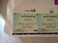Greenday Tickets x 2 British summer time Hyde park