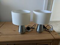 Touch Table Lamp Pair - Metal Body