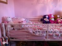 White mid sleeper bed frame
