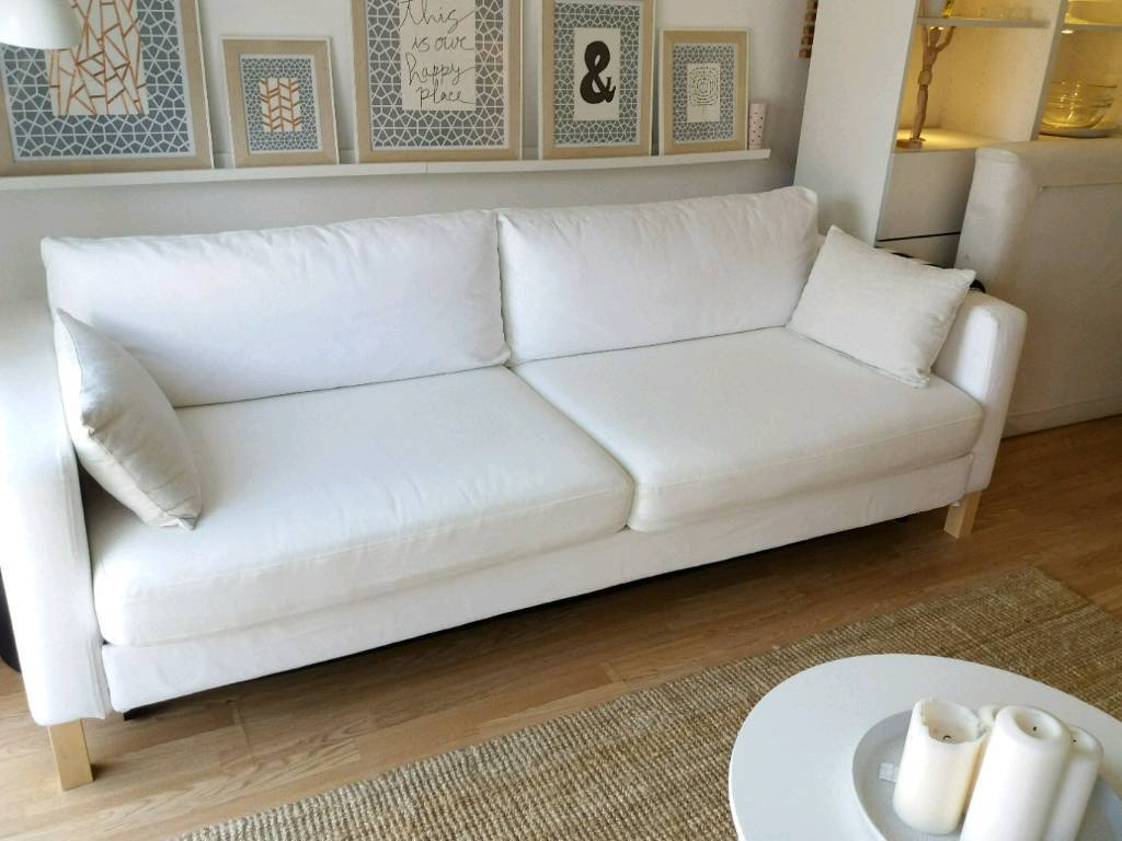 Ikea Karlstad Sofa Bed With Storage In Blekinge White In