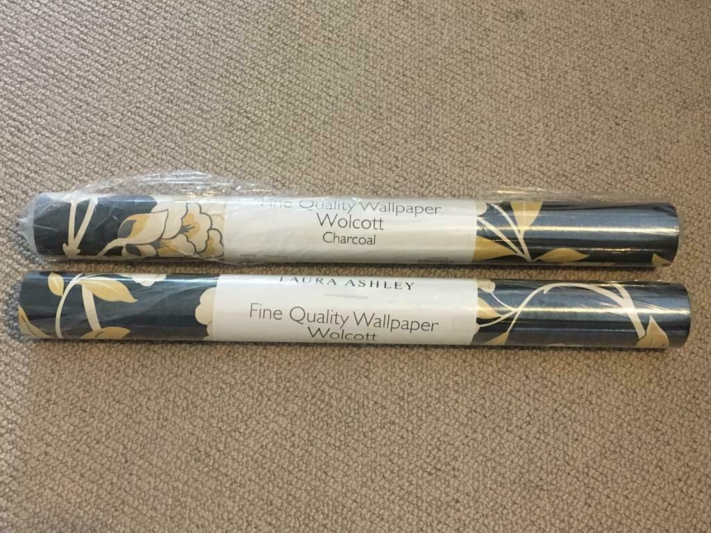 New Laura Ashley Wolcott Discontinued Charcoal Wallpaper Wall Covering X2 In Stockton On Tees County Durham Gumtree