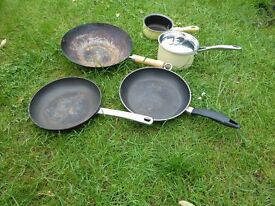 Pots and Pans - Saucepans, Frying Pan and Wok