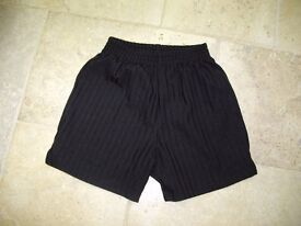 Back to school black shorts 7-8 years (good condition)