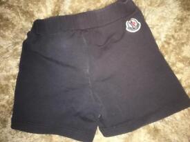 Baby Moncler shorts.