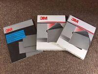 3M Wetordry Paper Abrasive Sanding Sheets 3 packs Various grades NEW