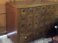 Old Chinese beautiful acpothecary medincibe chest with multi drawers