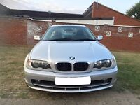 BMW 3 Series 2.0 318Ci SE 2dr 2003 Coupe 116,000 miles Manual+Full Service History+MOT August 2017