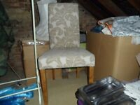 oak fabric dining room chairs