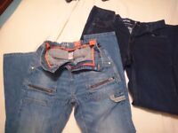 2 x boys next jeans aged 14 and 15 years