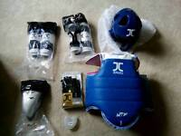 Taekwondo sparring gear, protective kit, childrens