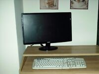 Computer Table Keyboard Screen