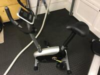 Exercise bike V-Fit with electronic controls and adjustable seat / bars