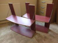 Shelves, wooden, set of 2.