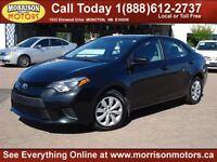2014 Toyota Corolla LE ($113 bi weekly tax inc. oac)