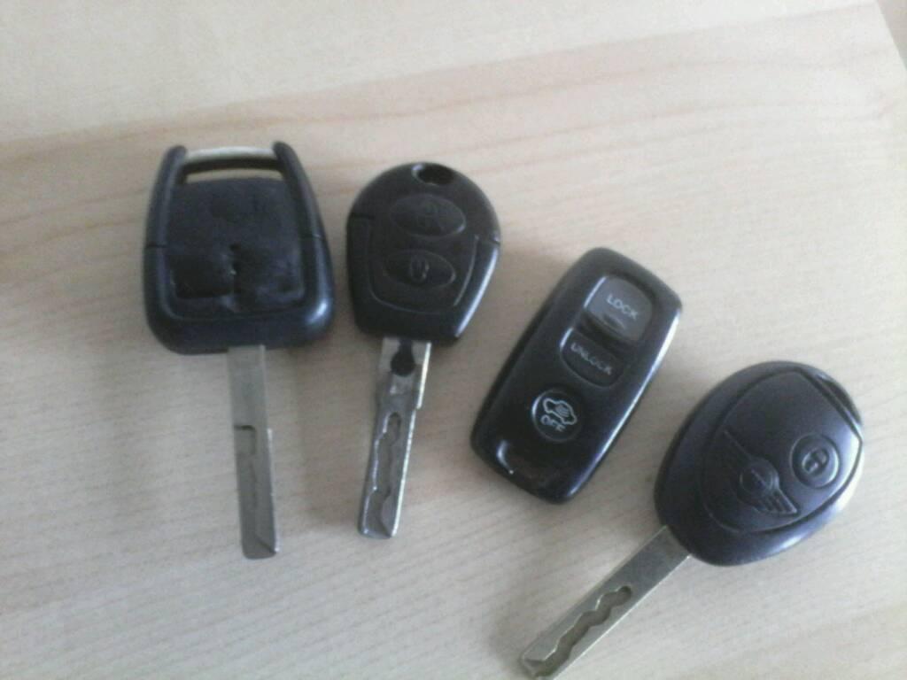 5 Car Key Fobs Control Spare Mini Vauxhall Seat Mazda Volvo All 5