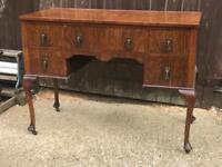 Antique mahogany desk dressing table