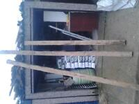 3 soild oak beams brand new buyer collect