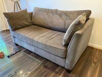 2 x Wolseley 2 Seater Sofas, Mid Grey Corduroy