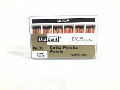 Diadent Gutta Percha Points Endodontic Product 100 Pieces All Accessory Sizes