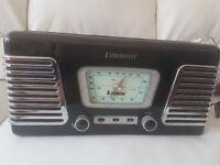 steepletone retro radio/record player,roxy 1, authentic reprodution, 1960's style, colour black