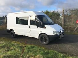 Ford transit. Needs welded no psv crew cab