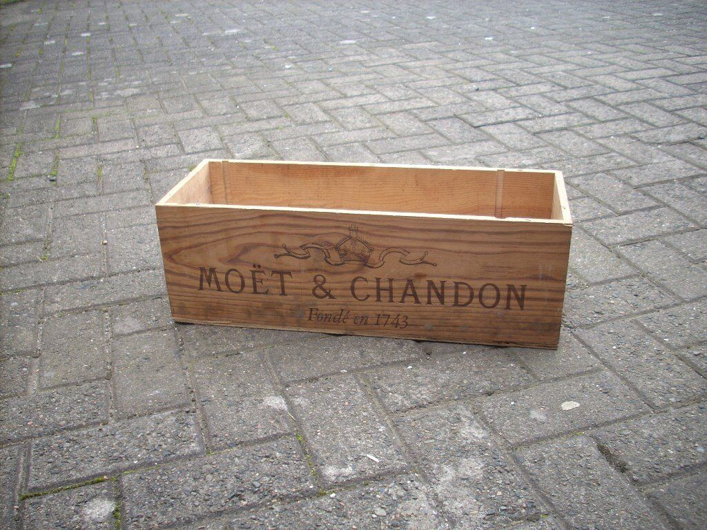 Moet and Chandon Wooden Champagne Crate