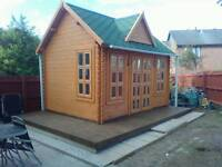 Log cabins 4m x 3m optional sizes