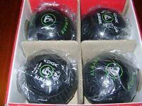 Black Almark Edge bowls hardly used, boxed.