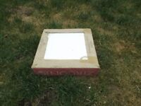 Floor tiles, 3 x cartons of 9. Measures 13 x 13 inches. Colour white.