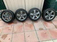 Mazda 5 stud 16 inch alloys + winter tyres