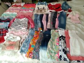 Large bundle of girls clothes 12-18 months