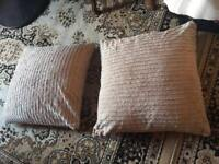 2 sofa cushions with cover cotton sizes 60X60cm used £4