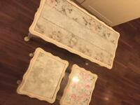 Shabby chic style nest of tables