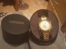 mens second hand gold citizen watch