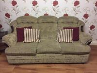3,1,1 SUITE OF FURNITURE FABRIC 3 SEATER SOFA AND 2 ARMCHAIRS