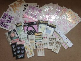 Card Making Job Lot. Decoupage sheets, Cards & envelopes, Card Toppers/ embellishment & Paper