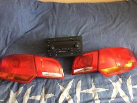 Audi a3 rear lights & audi symphony 6 disc cd changer cd player