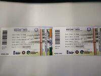 England v India - Third ODI Cricket (Leeds) - 2 Tickets Available