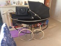 Silver Cross Silver Stream Black/Silver Traditional Pram