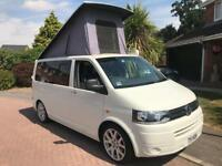 Vw transporter t5 t5.1 camper 4 berth pop top 12m Mot hot water solar panel shower heater oven etc!