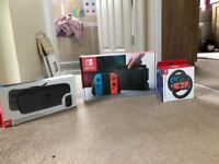 Nintendo Switch as new boxed with games plus