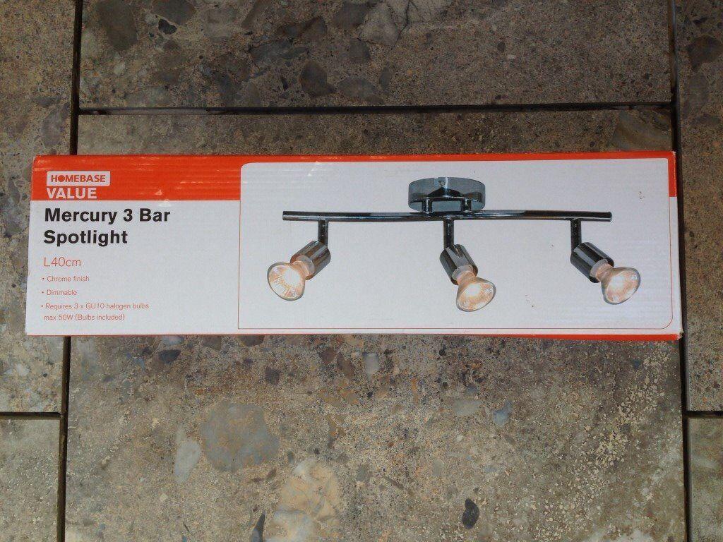 Homebase Mercury 3 Bar Spotlight - Chrome finish - never used - new in box.