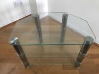 Glass coffee table. Perfect condition.