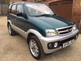 06 DAIHATSU TERIOS 1.3 4X4, LOW MILEAGE, FULL MOT. PRICED TO SELL FROM THE RETFORD CAR COMPANY