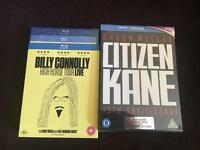 Citizen Cane 75th anniversary Blu ray & Billy Connolly Blu ray