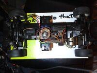Tamiya TL-01 Chassis Motor servos and RX