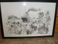 """Rowel Friers signed print of """"The Titanic Leaving Belfast on 2 April 1912"""""""