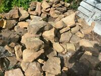 Sandstone stone rockery approx 200+