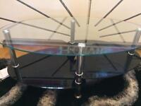 Black glass glittered table